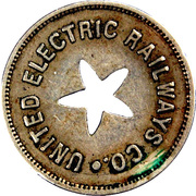 1 Fare - United Electric Railways Co. (Providence, Rhode Island) – obverse