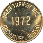 25 Cent Bus Token - Area Transit Inc. (Anchorage, Alaska) – obverse