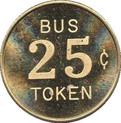 25 Cent Bus Token - Area Transit Inc. (Anchorage, Alaska) – reverse