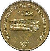 10 Cents - San Antonio Traction Co. Retires Streetcar (San Antonio, Texas) – obverse