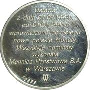 Token - Złotogrosz (Polish New Coin Issue) – reverse