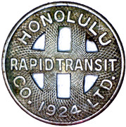 1 Full Fare - Honolulu Rapid Transit Co. (Honolulu, Hawaii) -  obverse