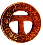 1 Fare - Community Traction Co. (Toledo, Ohio) – reverse