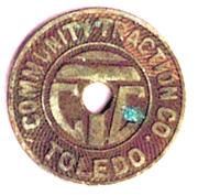 1 Fare - Community Traction Co. (Toledo, Ohio) – obverse