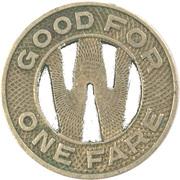 1 Fare - Delaware Coach Co. (Wilmington, Delaware) – reverse