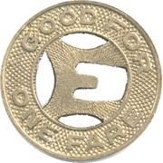 1 Fare - Evanston Bus Co. (Evanston, Illinois) – reverse