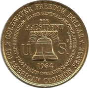 Goldwater Freedom Dollar – obverse