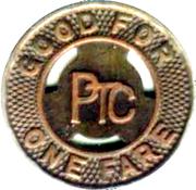 1 Fare - Philadelphia PTC (Philadelphia, Pennsylvania) – reverse