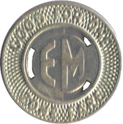 1 Zone Fare - Eastern Massachusetts Street Railway Company – reverse