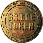 1 Passage Bridge Token - Delaware River Joint Toll Bridge Commission – reverse
