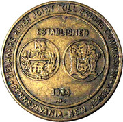 1 Passage Bridge Token - Delaware River Joint Toll Bridge Commission – obverse