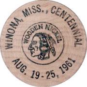 Wooden Nickel - Winona Bank – obverse