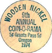 Wooden Nickel - Caveman Coin Club (9th Annual Coin-O-Rama, Oregon) – reverse