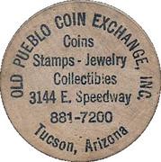 Wooden Nickel - Old Pueblo Coin Exchange (Tucson, Arizona) – obverse