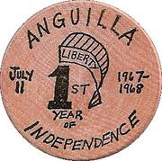 Wooden Nickel - Anguilla Independence – obverse