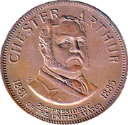Token - Presidential Hall of Fame (Chester Arthur) – obverse
