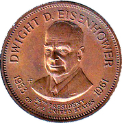 Token - Presidential Hall of Fame (Dwight D. Eisenhower) – obverse