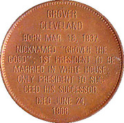 Token - Presidential Hall of Fame (Grover Cleveland) – reverse