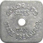 ⅕ Cent - Sales Tax Token (Colorado) – obverse
