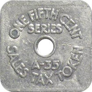 ⅕ Cent - Sales Tax Token (Colorado) – reverse