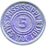 5 Mills - Sales Tax Token (Mississippi) – obverse