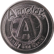 Game Token - Arnold's Family Fun Center – obverse