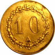 10 Centimes – obverse