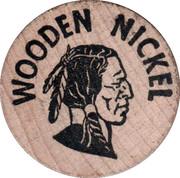 Wooden Nickel - Las Vegas – reverse