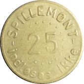 25 Spillemønt - Indløses ikke – obverse