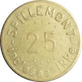 25 Spillemønt - Indløses ikke – reverse