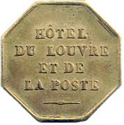Token - Hôtel du Louvre et de la Poste (Valence) – obverse
