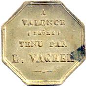 Token - Hôtel du Louvre et de la Poste (Valence) – reverse