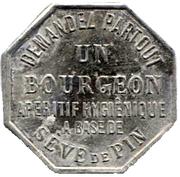 20 Centimes - Bon pour un verre de Bourgeon – obverse