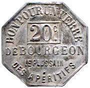 20 Centimes - Bon pour un verre de Bourgeon – reverse