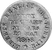 Token - Fête du Champ de Mars (21 may 1848) – obverse