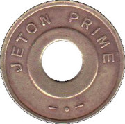 Jeton Prime (inscribed one side; with triangular mintmark) – obverse