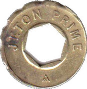 Jeton Prime (with hexagonal hole; inscribed one side; 22 mm) – obverse