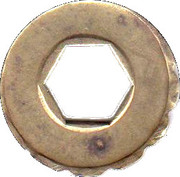 Jeton Prime (with hexagonal hole; inscribed one side; 22 mm) – reverse