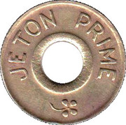 Jeton Prime (inscribed one side; with flower and star) – obverse