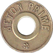 Jeton Prime (inscribed both sides; with 2 flowers) – reverse