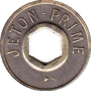 Jeton Prime (with hexagonal hole; inscribed both sides) – obverse