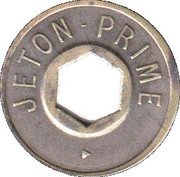 Jeton Prime (with hexagonal hole; inscribed both sides) – reverse