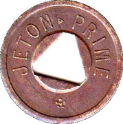 Jeton Prime (with triangular hole) – obverse