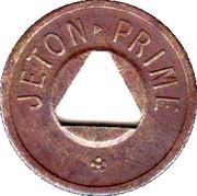 Jeton Prime (with triangular hole) – reverse