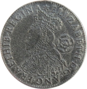 Replica - 6 Pence Elizabeth I 1562 (Milled issue) – obverse