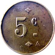 5 Centimes – obverse
