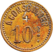 10 Centimes A Consommer (Lighthouse) – reverse