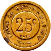 25 Centimes - Pour La Consommation – obverse
