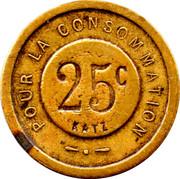 25 Centimes - Pour La Consommation – reverse