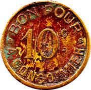 10 Centimes (Drink Token) – obverse